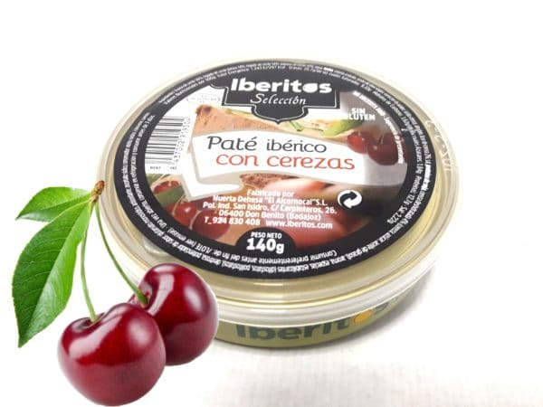 Iberitos paté ibérico con cerezas