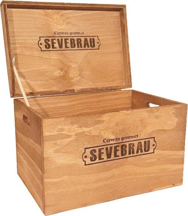 cajón de madera para cervezas
