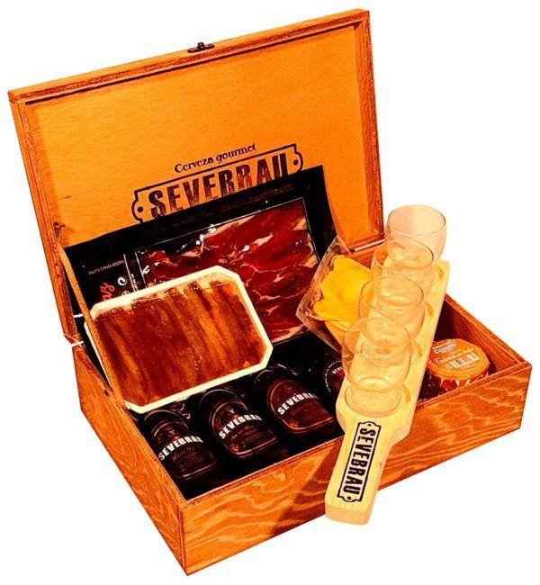maletín de regalo con cerveza san valentín