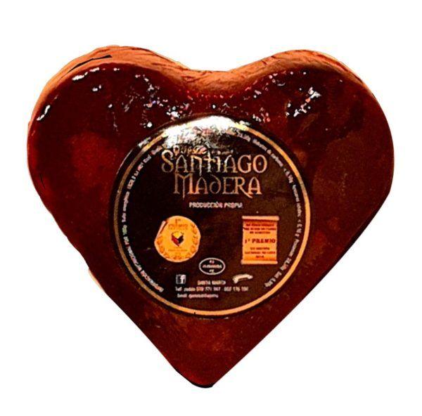 queso con forma de corazón