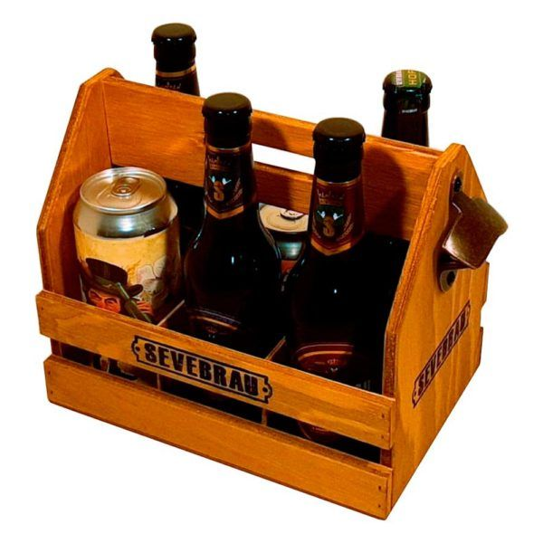 cesta de cerveza artesana y abridor