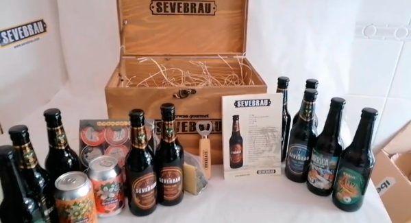 unboxing pack cervezas sevebrau con regalos