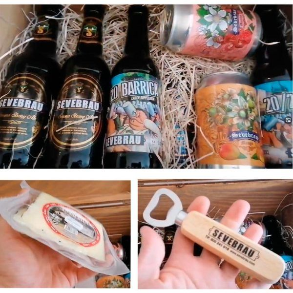 pack con cervezas y abridor