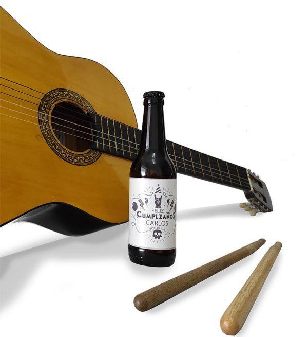personalizar cerveza musica