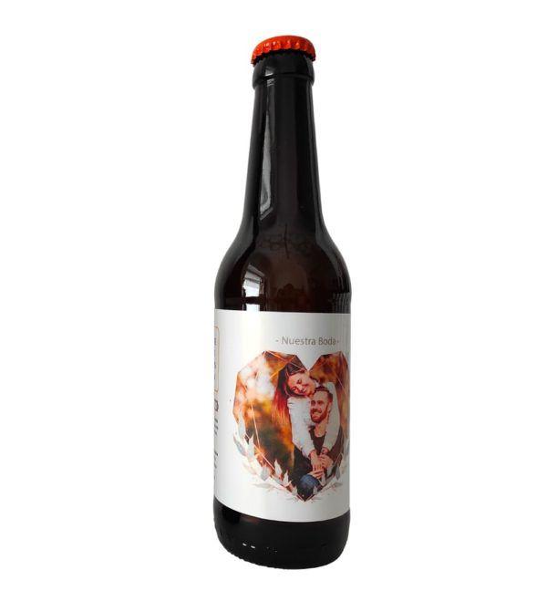 etiqueta cervezas con foto
