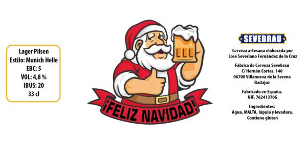 Cerveza personalizada navidad